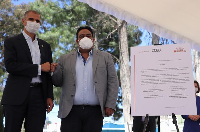 Audi patrocinará parque deportivo en San José Chiapa