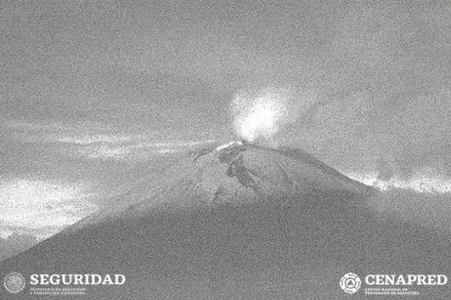Volcán Popocatépetl incrementa su actividad en las últimas horas