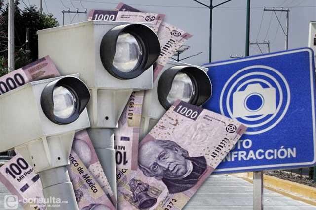 Cuestan fotomultas 455.4 mdp a los automovilistas en Puebla