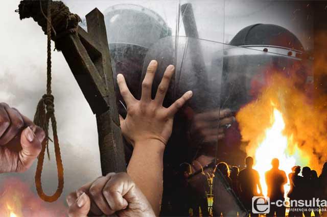 Vecinos linchan a 2 presuntos ladrones en Tlatlauquitepec