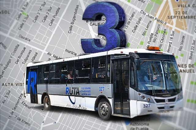 Línea 3 desalojará 15 rutas del Bulevar Héroes del 5 de Mayo
