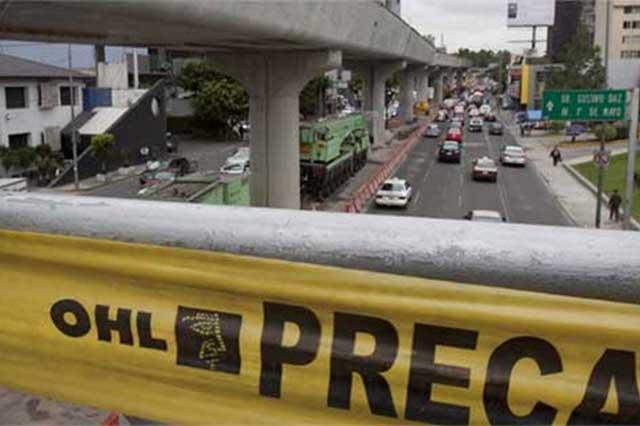 OHL consigue créditos por 3500 mdp para terminar vía en Puebla