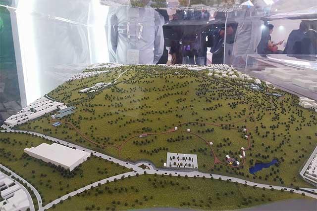 Dan a empresa de Jalisco obra de acceso al Parque de Amalucan