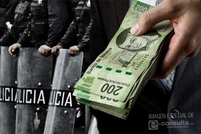 Salario de policías municipales de Puebla subió 586 pesos en 4 años