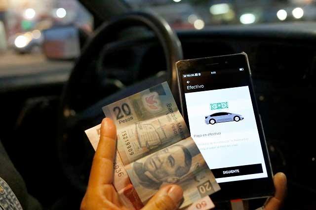 Propone PVEM opción de pago en efectivo para Uber y Cabify