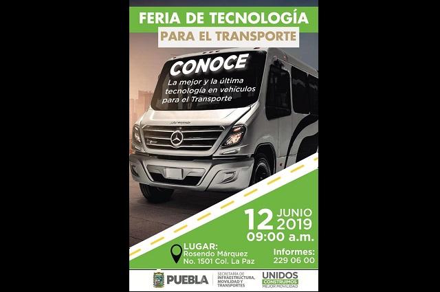 Realizarán feria de tecnologías para el transporte en Puebla