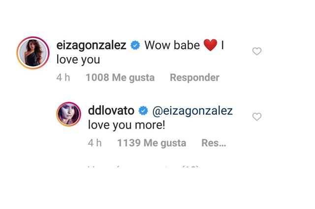Eiza González y Demi Lovato se expresan su amor en Instagram