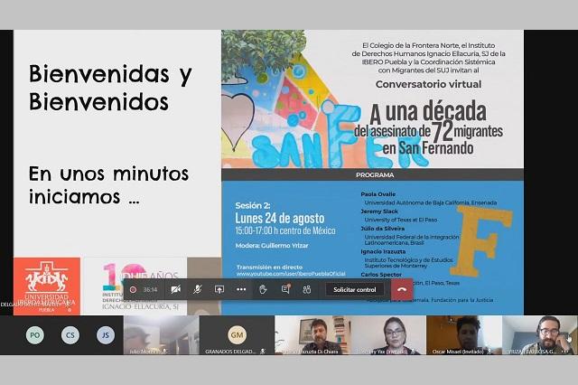 Conmemora IBERO Puebla ejecuciones en San Fernando