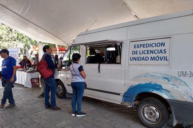 Módulo de SIMT en Texmelucan expidió licencias de conducir