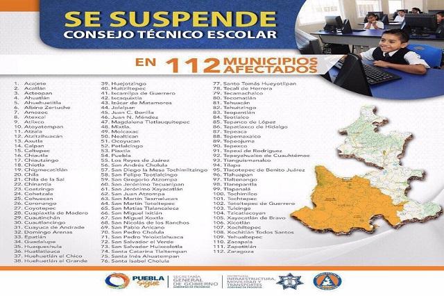 Tendrán consejo técnico maestros este viernes en Puebla