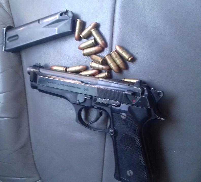 En operativo Escudo Zaragoza aseguran a dos hombres armados