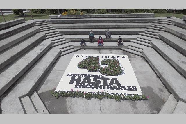 Recuerdan en la IBERO Puebla 6 años sin los 43 de Ayotzinapa