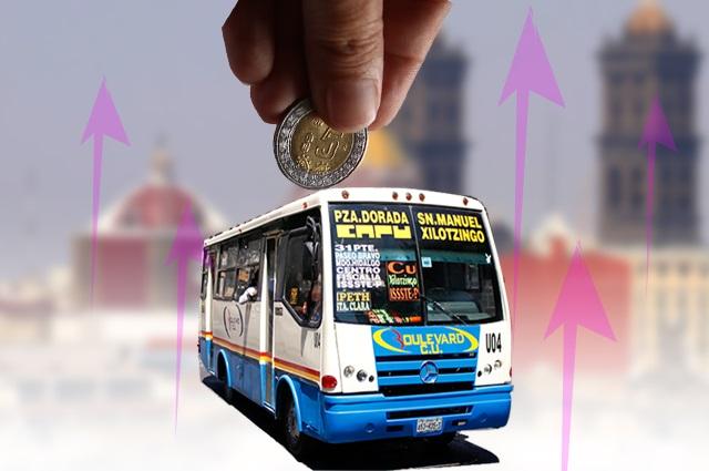 Sí habrá aumento a la tarifa del pasaje en Puebla: Barbosa