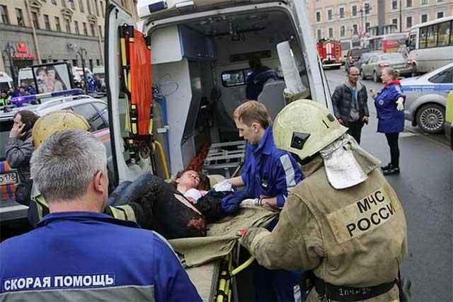 Difunden imágenes de la explosión en el Metro de San Petersburgo