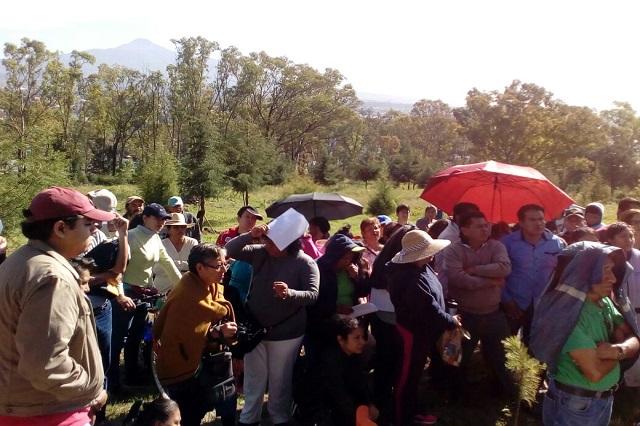 Vecinos alistan resistencia contra parque en el Cerro de Amalucan