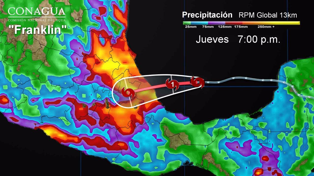 SAGARPA prevé alto riesgo en Teziutlán por llegada  de la tormenta Franklin