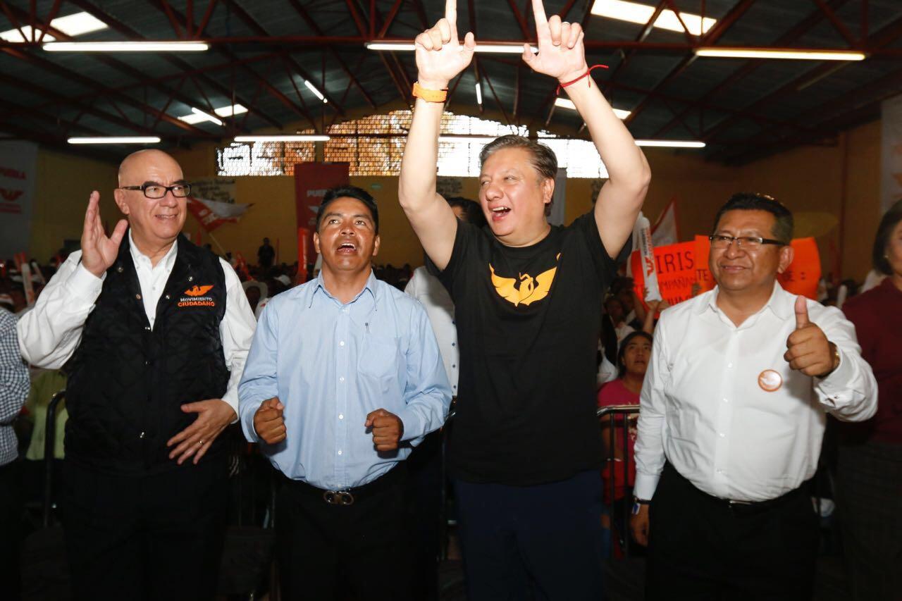 Dante Delgado  concluye gira por Puebla en Tepeaca y San Pedro Cholula