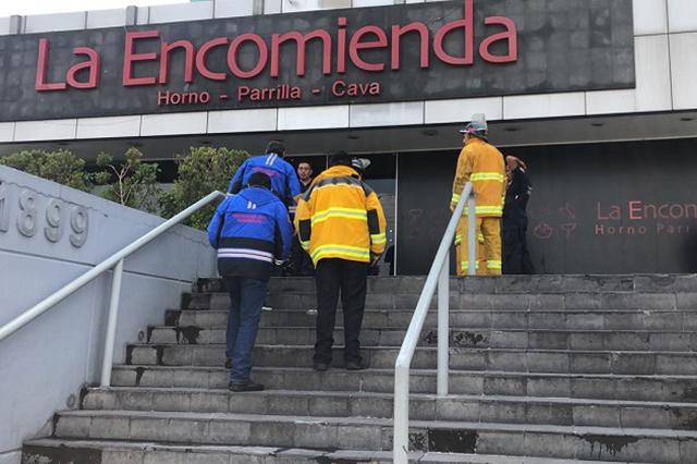 Desalojan restaurante La Encomienda de la Atlixcáyotl por fuga de gas