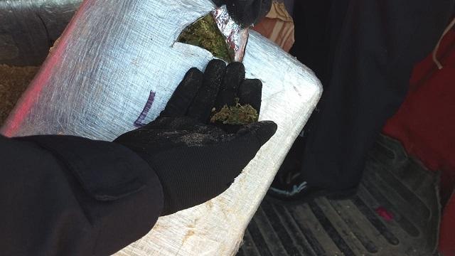 Detienen a sujeto con más de 100 kilos de marihuana en Texmelucan