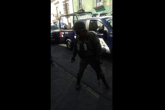 Detienen a 3 en operativo relámpago en centro de Puebla