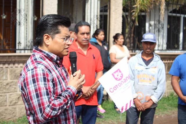Inicia edil de Coronango programa de Piso Digno y mejora de viviendas