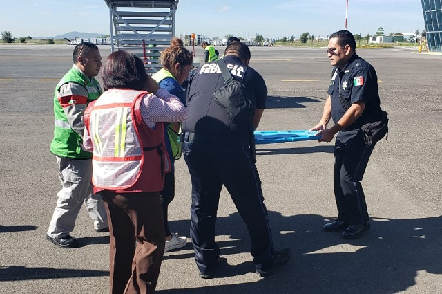 Aterriza vuelo de emergencia en Puebla por emergencia médica