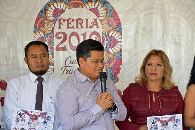 Presenta edil Feria de Coronango y candidatas a Reina 2019