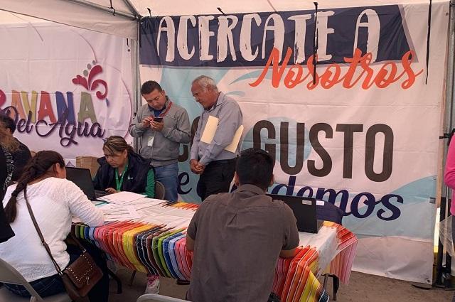 Agua de Puebla llevó a la colonia Santa Lucía La Caravana del agua