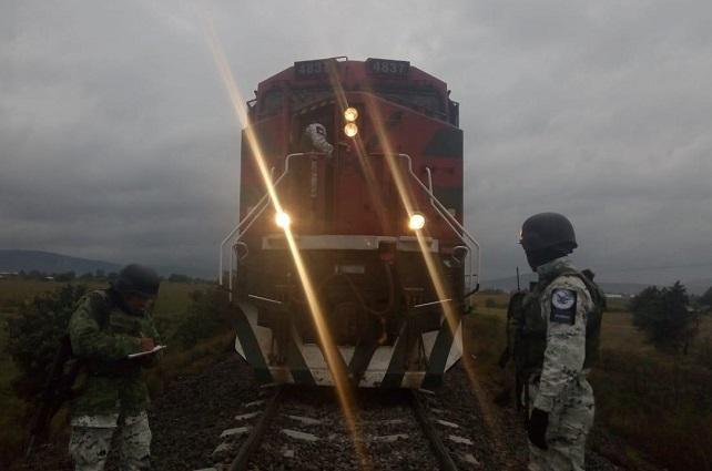 Frustra Guardia Nacional robo al tren en Cañada Morelos