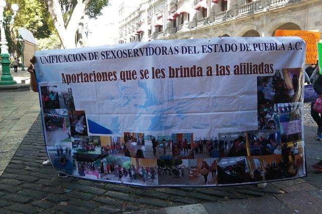 Sexo servidoras piden zona de tolerancia en Puebla capital
