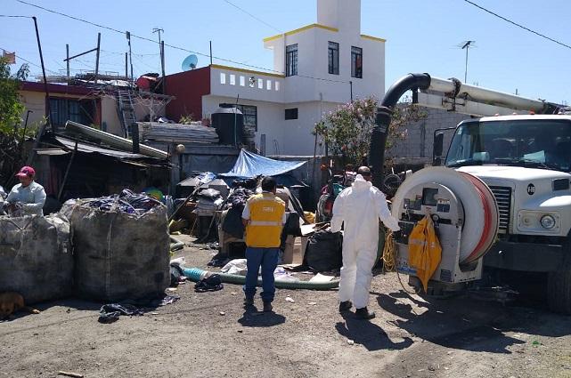 Atención sanitaria de Agua de Puebla a zonas sin drenajes
