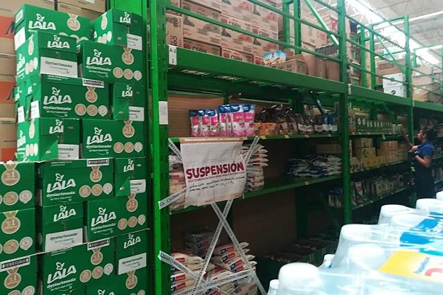 Alteran precios de arroz y frijol dos Bodegas Aurrerá de Puebla