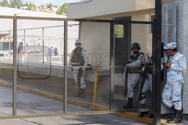 Vigila Guardia Nacional el IMSS de La Margarita para evitar ataques