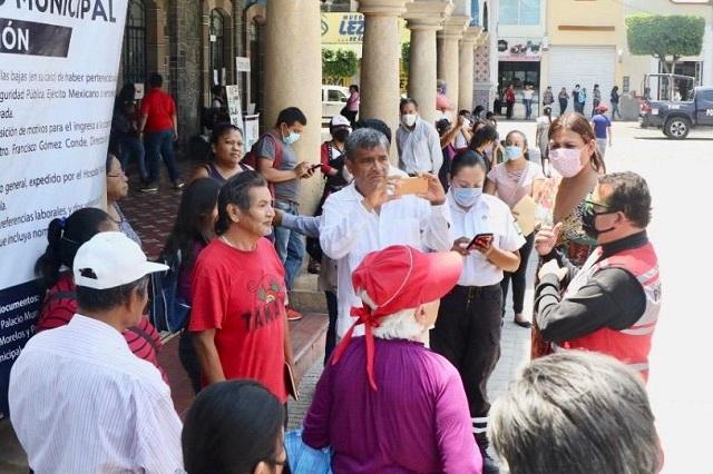 En Tehuacán asisten a falsa convocatoria de entrega de despensas