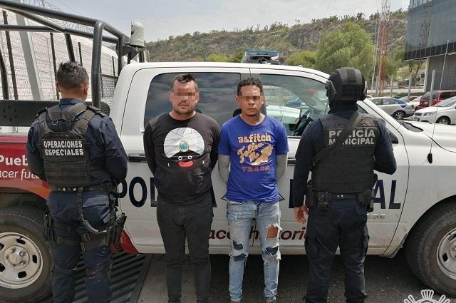 Detienen a colombianos del sistema gota a gota en Tehuacán