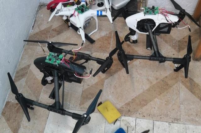 Asegura FGR bombas y drones para terrorismo, en Cholula