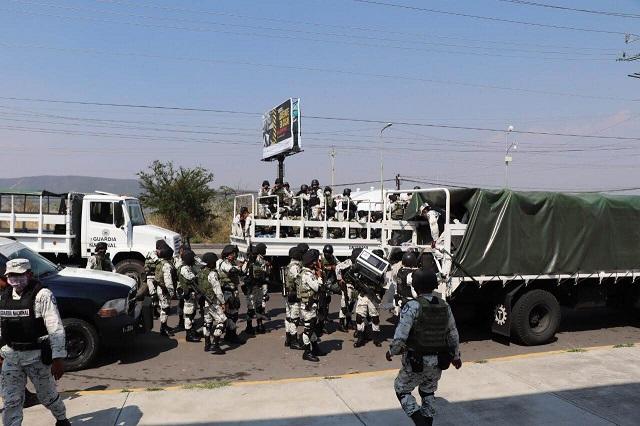 Guardia Nacional instala base en Izúcar