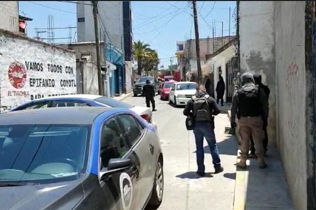 Realizan operativo en Canoa por alcohol adulterado
