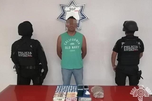 Detienen a presunto integrante del CJNG por posesión de droga
