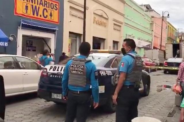 Asaltan sucursal Elektra en el Centro de Puebla
