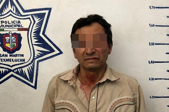 Cae sospechoso de doble crimen en tianguis de Texmelucan
