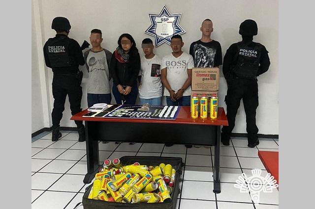 Caen 5 de La Unión Tepito en Puebla, con narco químicos