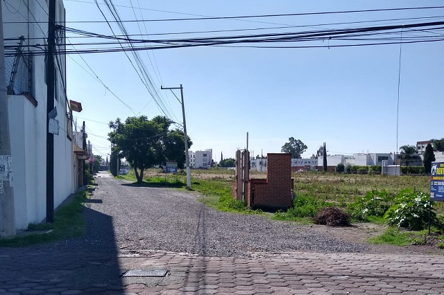Agua de Puebla sustituye red de drenaje en colonia El Barreal
