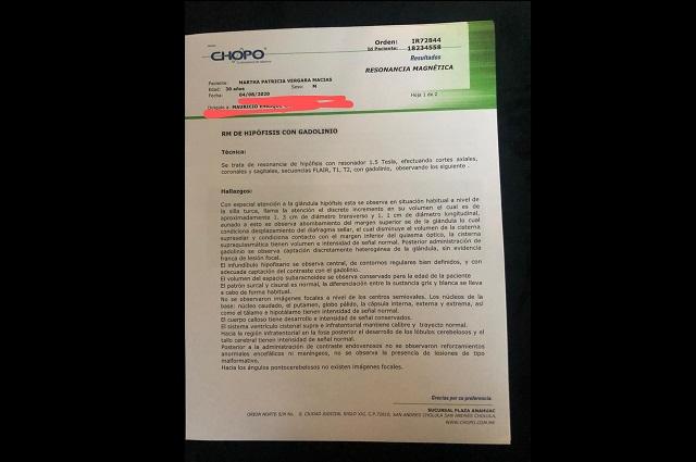Usuaria acusa de negligentes a Laboratorios Chopo en Puebla