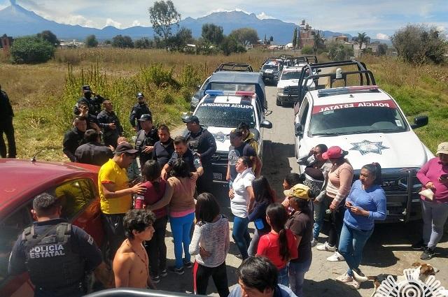Frustran secuestro de mujer y sus hijas en Huejotzingo