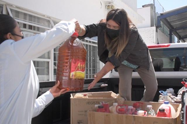 Contra contaminación, acopia Agua de Puebla aceite vegetal usado
