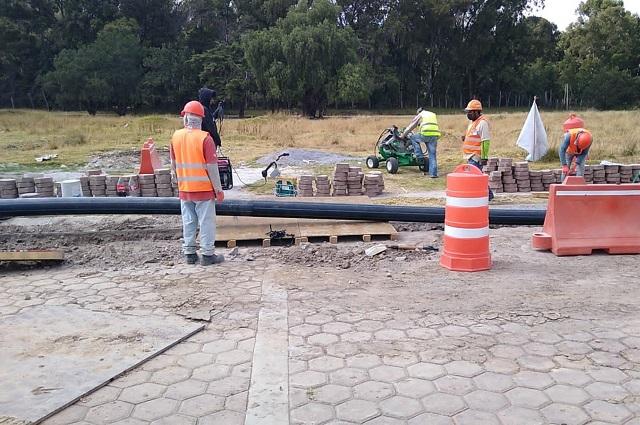 Agua de Puebla instaló la nueva Línea de Conducción Amalucan