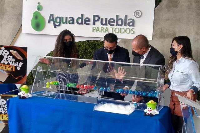 Con sorteo de 300 mil pesos, Agua de Puebla agradece pago anticipado