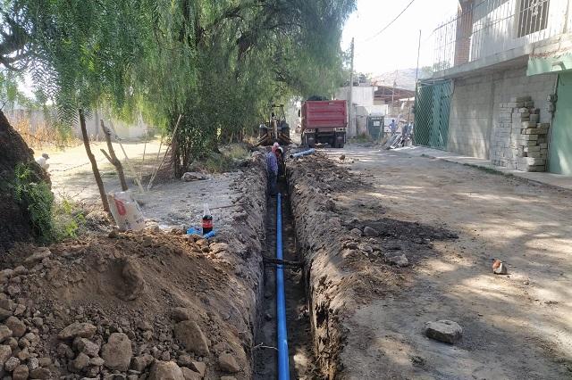 Obra de Agua de Puebla beneficia a San Francisco Totimehuacán