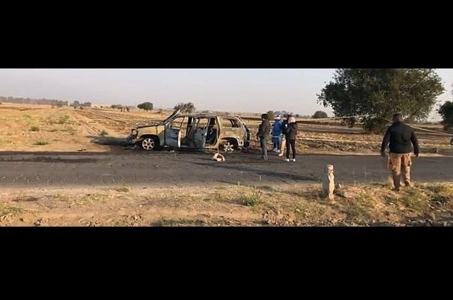 Se calcina cadáver en un vehículo en San Pedro Cholula